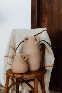 Jarrón cerámica orejero