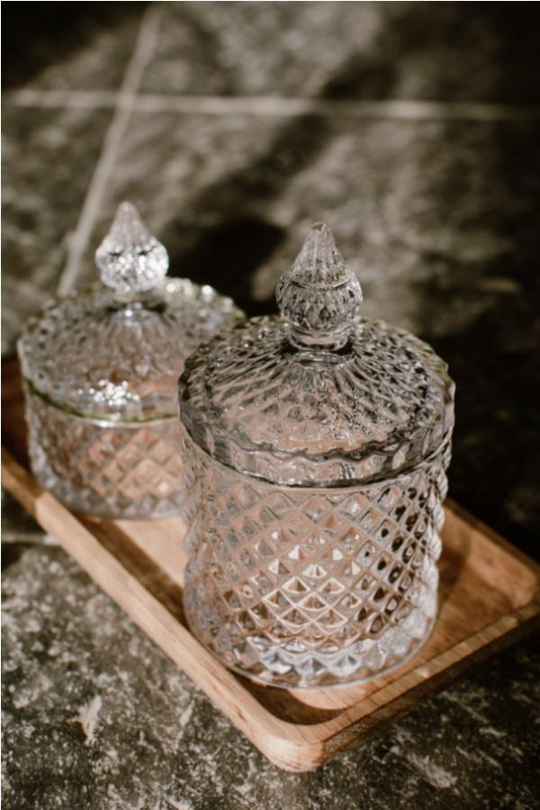 Joyeros cristal, borde dorado, vintage
